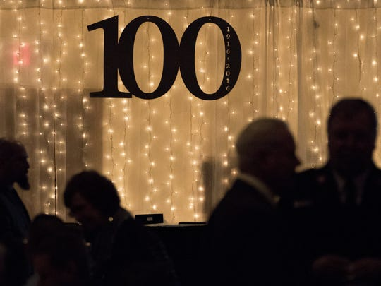 The Chamber of Manitowoc County celebrated 100 years of award dinners Wednesday, Feb. 7, in Mishicot.