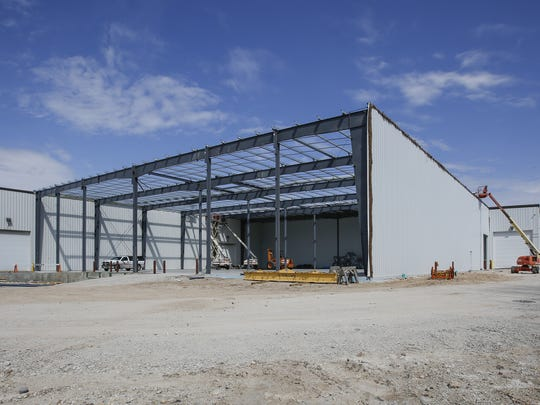 The nearly 21,000-square-foot addition Manitowoc Tool is building. The expansion will house metal stamping presses.