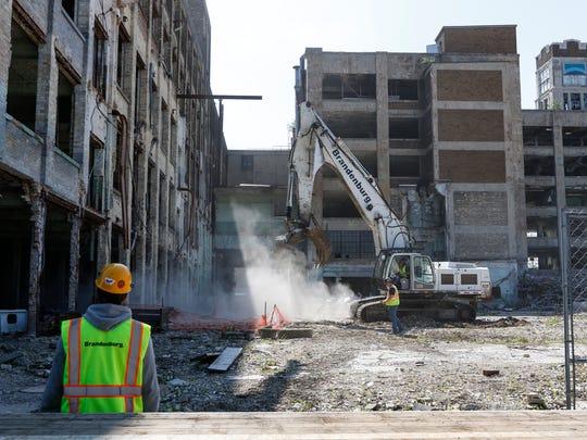 Mirro demolition ceremony Friday, Jun. 9, 2017, in