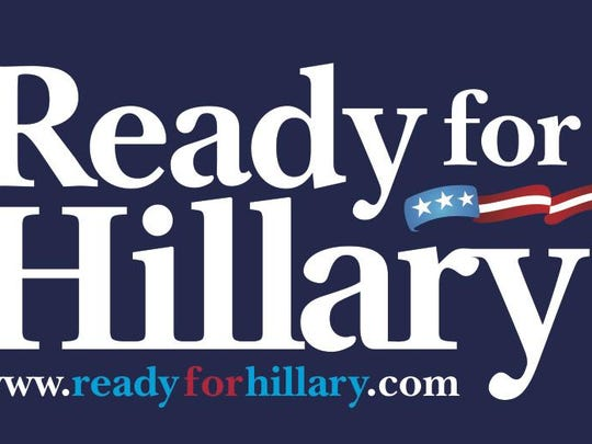 The bumper sticker design from a pro-Hillary Clinton PAC, Ready for Hillary.