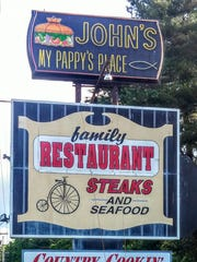 John's, My Pappy's Place restaurant in Rippon, West Virginia.