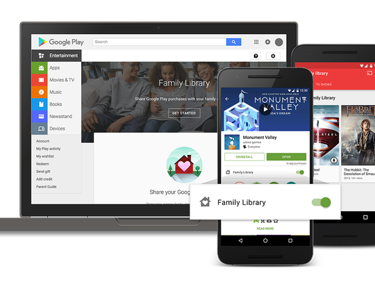 Google Play is rolling out Family Library, a way for