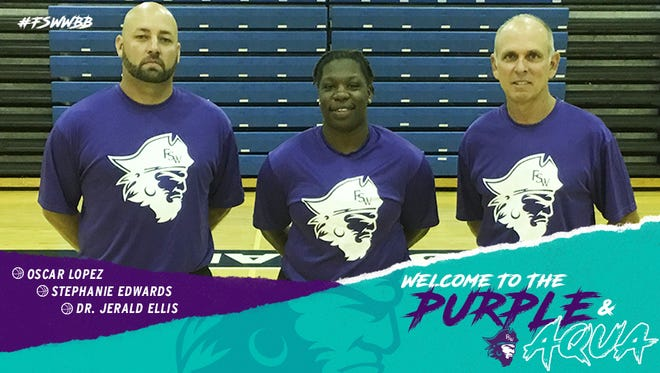 Oscar Lopez, Stephanie Edwards and Jerry Ellis have been named assistant coaches to Kristy Ward at Florida SouthWestern State College.