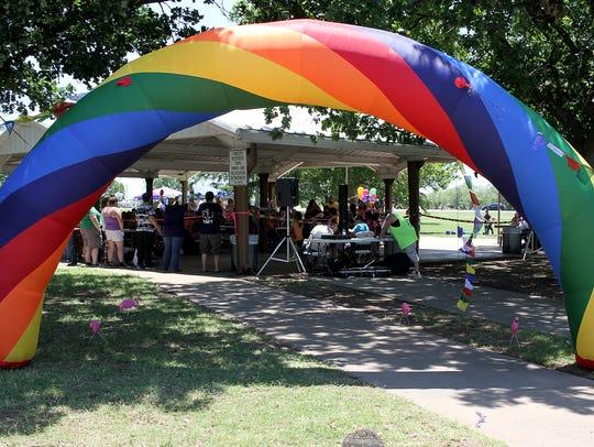 PRIDE in the Falls, an event celebrating the LGBTQIA
