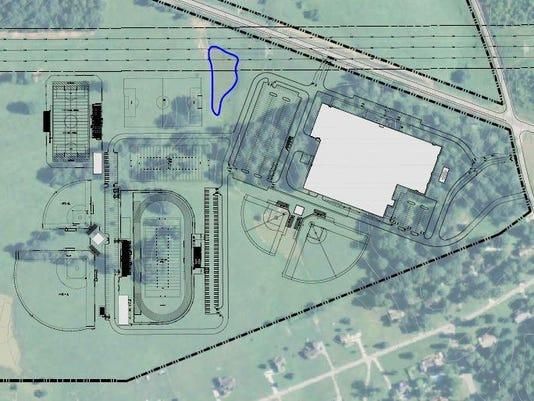 Burns Middle-High School rendering