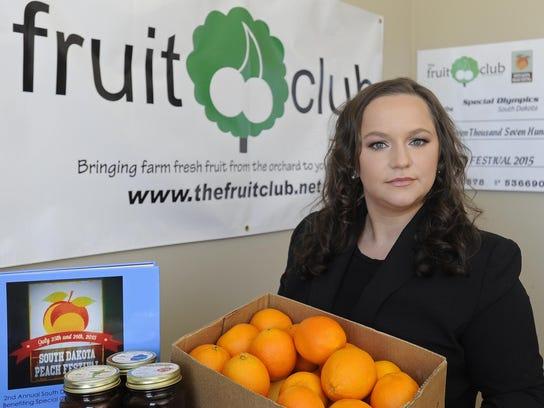 Irina Kleinsasser helped start The Fruit Club, which
