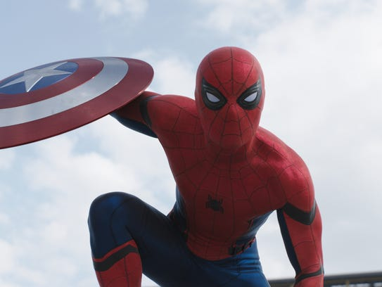 A new Spider-Man (Tom Holland) makes his movie debut