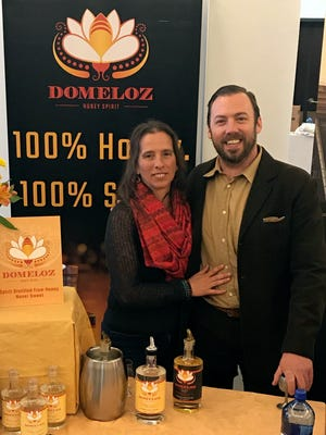 Laura DiJulius and Dominic DeSano make and sell Domeloz honey spirit, in a partnership with Yahara Bay Distillers.