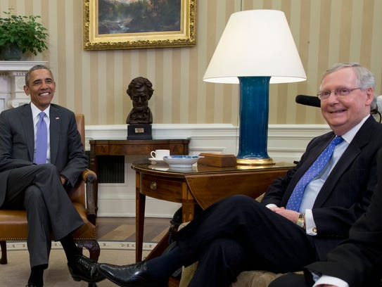 President Obama and Senate Majority Leader Mitch McConnell