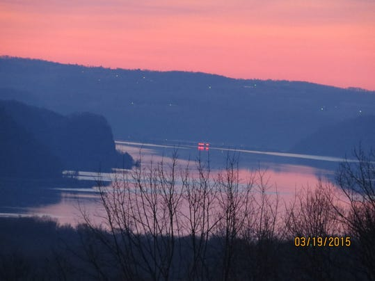 "Bill Moul of York submitted this photo to the YDR Nature and Scenery gallery Mar. 19. Moul writes, ""The Skys reflection is caught on the water of the lower section of the Susquehanna River."""
