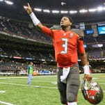 Jameis Winston defeated Drew Brees and the New Orleans Saints for his first career NFL win.