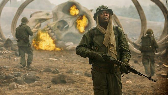 "Samuel L. Jackson as Packard in ""Kong: Skull Island."""