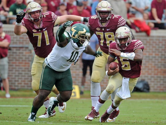Sep 12, 2015; Tallahassee, FL, USA; Florida State Seminoles