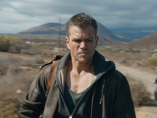 "Matt Damon appears in  ""Jason Bourne."" The movie opens"