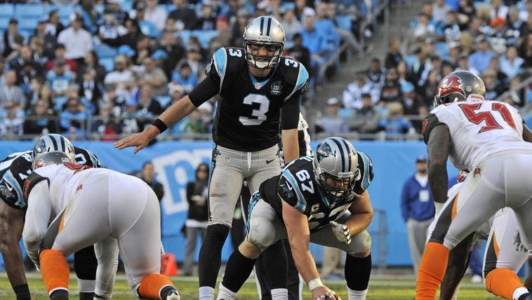 Carolina Panthers quarterback Derek Anderson (3) prepares