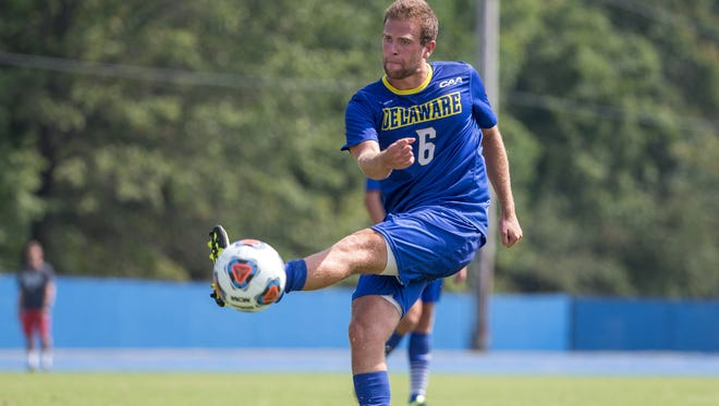 Wilmington Charter graduate Nick DiRienzo is a senior midfielder for Delaware who has played in 41 careEr games with 25 starts.