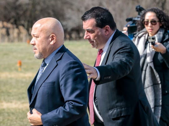 Paterson Mayor Joey Torres turns himself in at the New Jersey State Police barracks in Totowa.