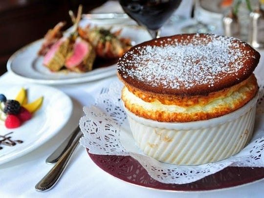 A souffle at The Grand Cafe in Morristown.