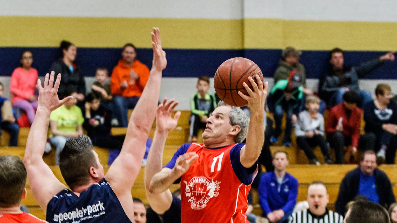 For the seventh straight year, the Waukesha Police and Fire departments squared off in a basketball game for charity March 31 at Catholic Memorial High School. The police department won for the fifth straight year.