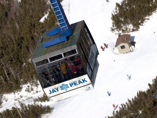 Jay Peak's tram shown here in 2015.
