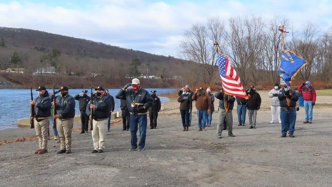 Veterans, police, city officials, and community members took part in a Pearl Harbor Day remembrance along the Delaware River last weekend.