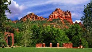 Get stunning views of Sedona's red rocks at  Amara Resort & Spa.