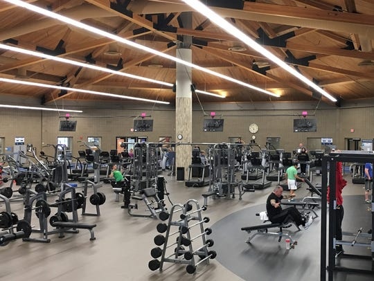 The main exercise area in the Sanford Wellness Center