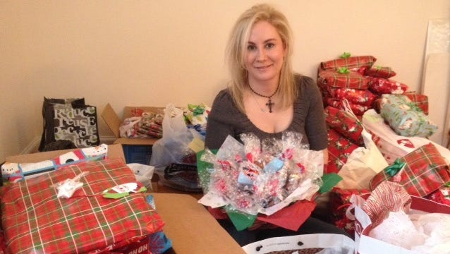 Stacia McDonough of Bedminster hosts an annual clothing drive for veterans in need in honor of her late husband, Sgt. John E. McDonough, a Vietnam veteran. McDonough will deliver the gifts to veterans on Dec. 22 at the VA facilities in Lyons.