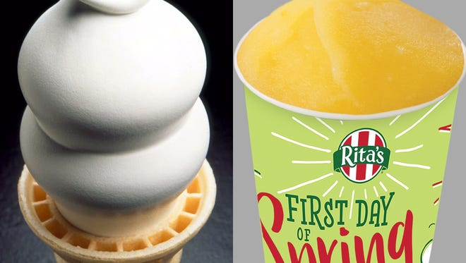 Celebrate the first day of spring with a free, frozen treat.