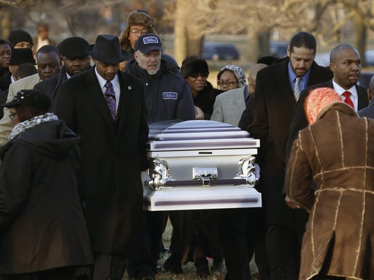 A funeral is held for Hadiya Pendleton, 15, in Calumet