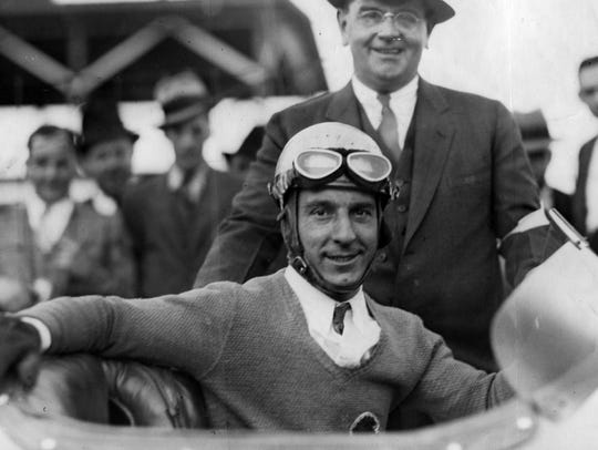 Kelly Petillo (foreground) after winning the 1935 Indianapolis