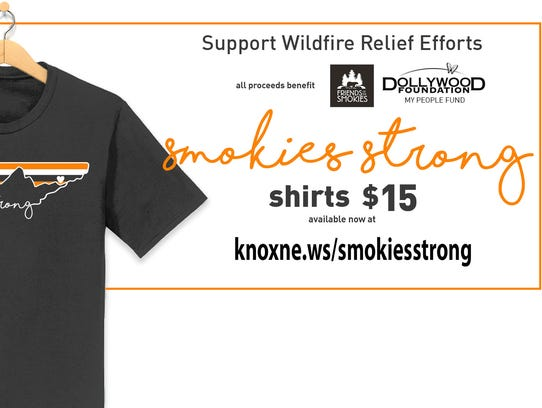 Get A Smokies Strong T Shirt To Support Relief Efforts