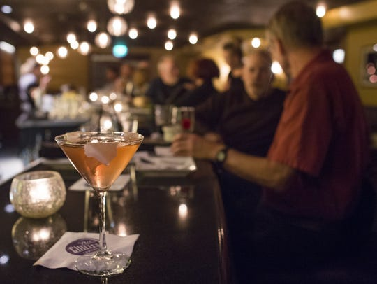 A spicy ginger cocktail is served on the bar at Ace