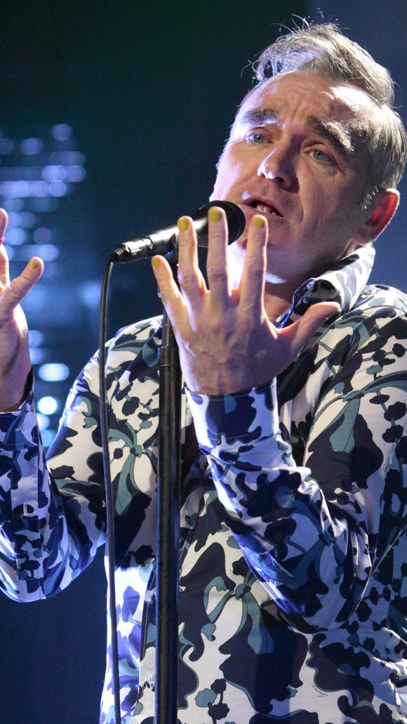 Morrissey, former singer for  The Smiths, performs in 2013 in Reading, Pa.