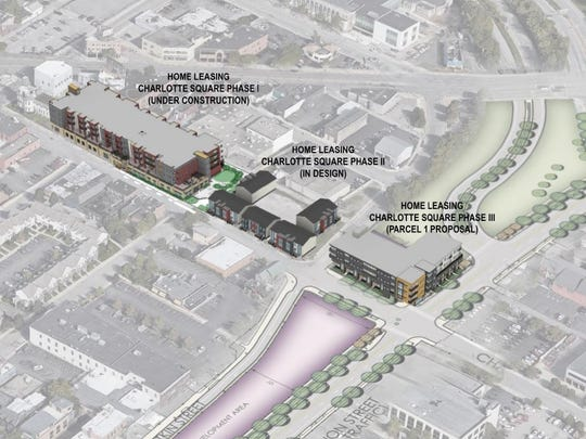 The proposal from Home Leasing would continue to expand on its Charlotte Square development now under construction.