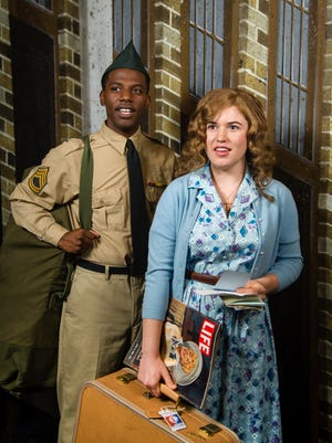 "Lamar Jefferson and Allie Babich perform in Skylight Music Theatre's production of ""Violet."""