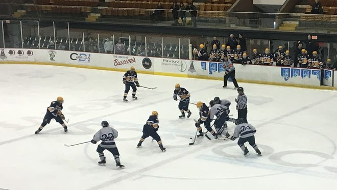 The Port Huron Northern and Marysville hockey teams renewed their rivalry Saturday at McMorran Arena.