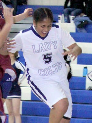 Silver's LeAsiah Jaure tallied 24 points for the Lady Colts in the two games over the weekend.