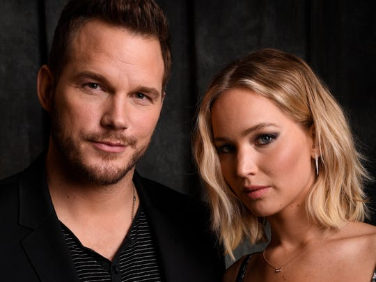 'Passengers' marks the first onscreen pairing of Chris