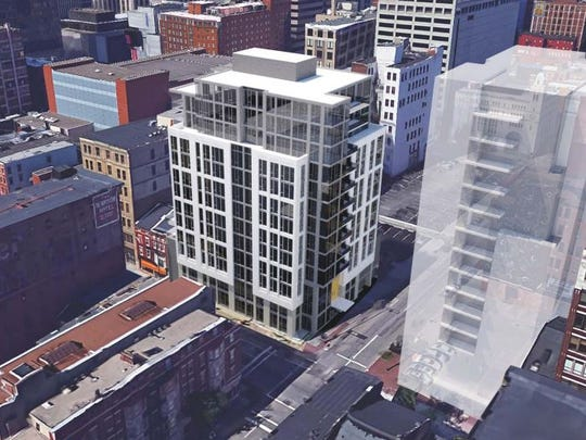Cincinnati's Historic Conservation Board approved plans Monday for a development team to build a new 157-foot-tall building in downtown Cincinnati featuring 30 condos.