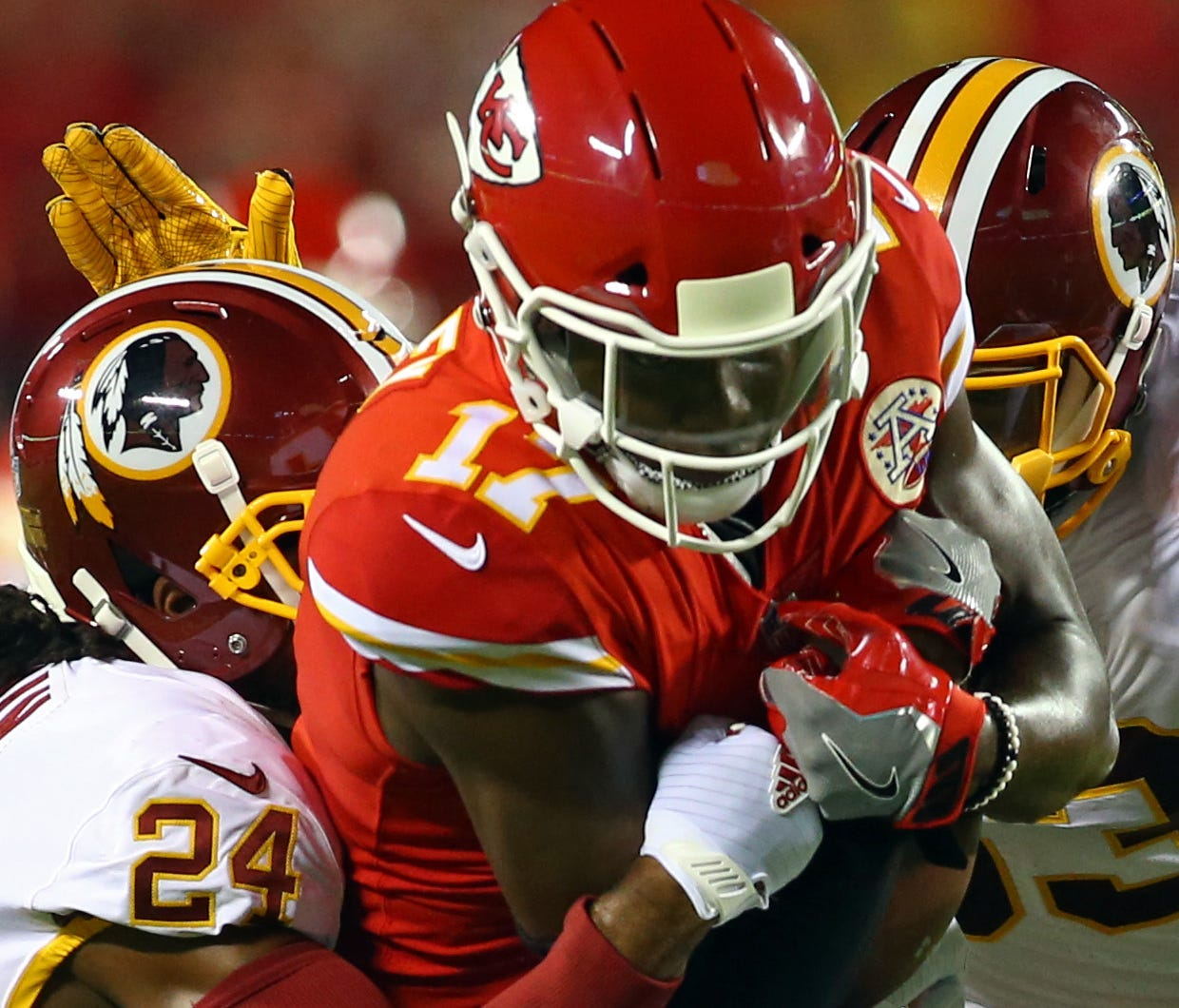 Washington Redskins vs. Kansas City Chiefs in 2017.