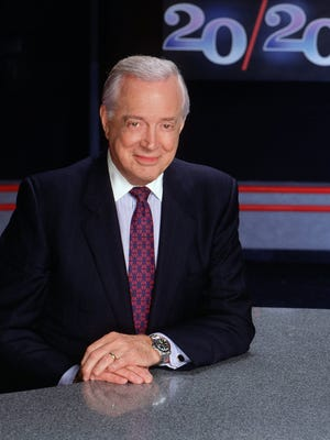 """Hugh Downs is seen here in 1993, when he was anchoring """"20/20."""""""