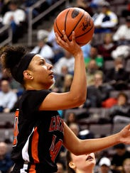 Central York's Teirra Preston finished with a team-high