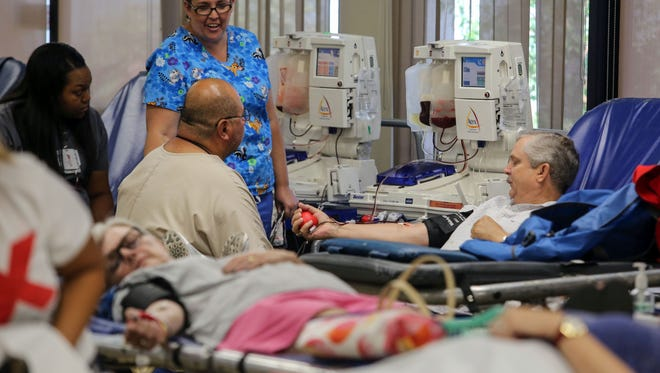 LifeStream hosts a blood drive at the La Quinta Wellness Center on Saturday, July 15, 2017. This LifeStream drive is part of the 9-city blood drive challenge across the valley.