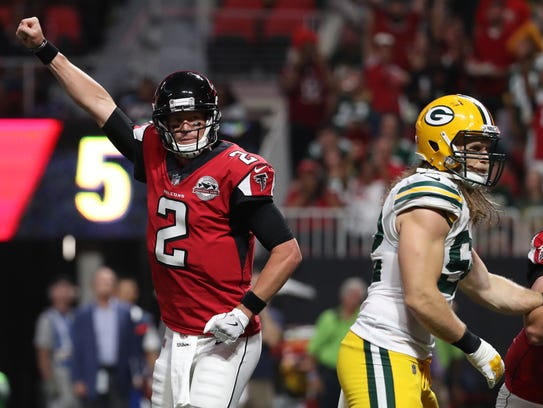 Matt Ryan led the Falcons past the Packers on Sunday.