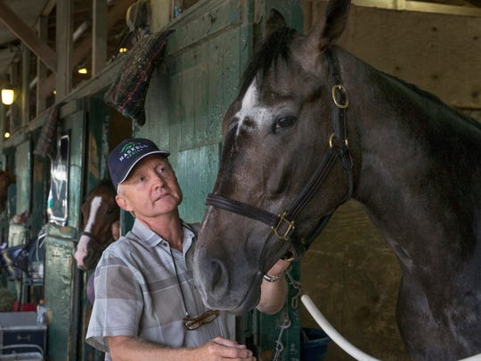 Trainer Jason Servis and Haskell Invitational contender