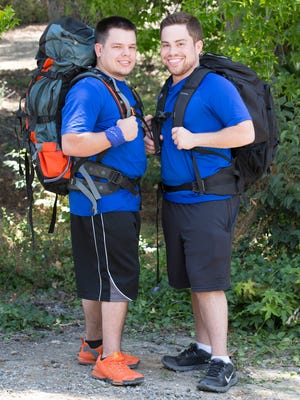 """Cousins Alex Manard, left, and Adam Dingeman will race around the world in hopes of winning $1 million on the new season of  """"The Amazing Race.""""The 10 time Emmy Award-winning series premieres on Friday at 7 p.m. CDT on CBS."""