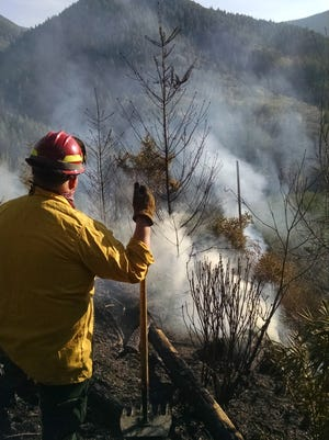 The Soda Fork Fire, 7.1 acres, was contained on Thursday near Sweet Home.