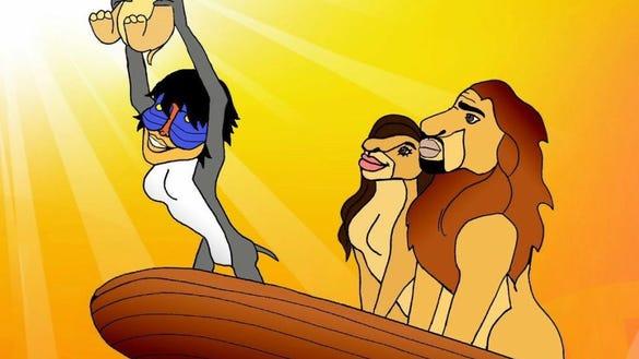 Cosmo.KimKanye.LionKing
