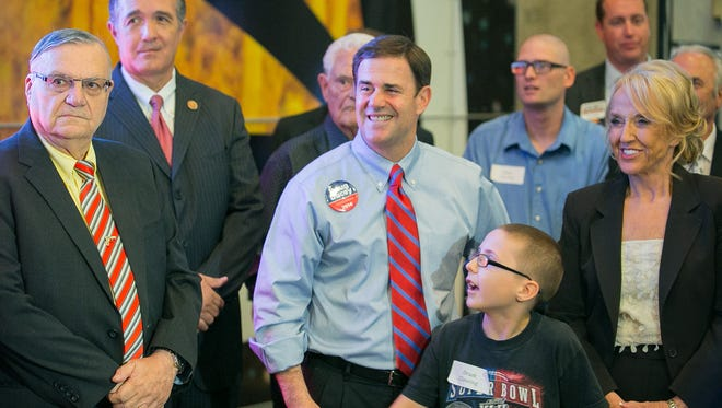 Candidate Ducey loved appearing in public with Sheriff Arpaio. What about now?